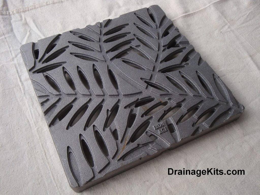 Locust cast iron grate - stepping stone