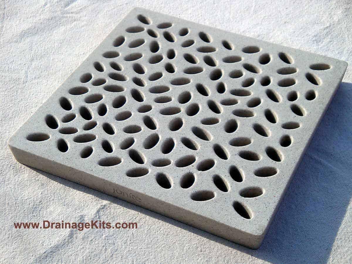Jonite catch basin grate - Baby Pebbles - Ivory White