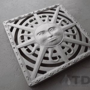 Iron Age Raw Cast Iron Sun Ironage Catch Basin Grate 12x12