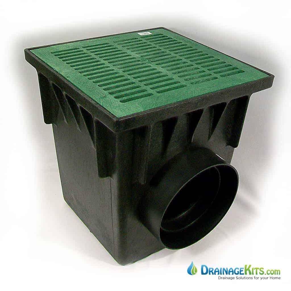 18x18 Catch basin kit w/green grate