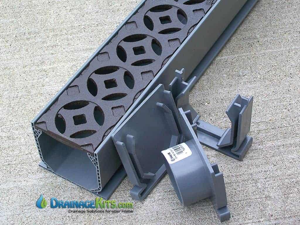 Mini Channel kit w/cast iron Interlaken pattern - baked on oil finish