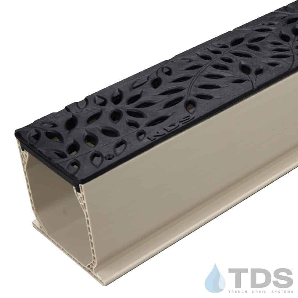 MCKS-554-TDSdrains black deco poly botanical grate nds