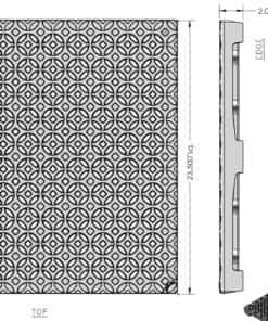 Iron Age 24x24 cast iron grate - Interlaken pattern