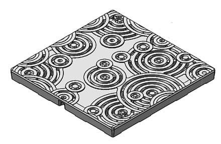 Iron Age 24x24 cast iron grate - Oblio pattern
