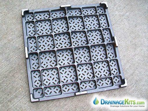 Iron Age 24x24 cast iron grate - back