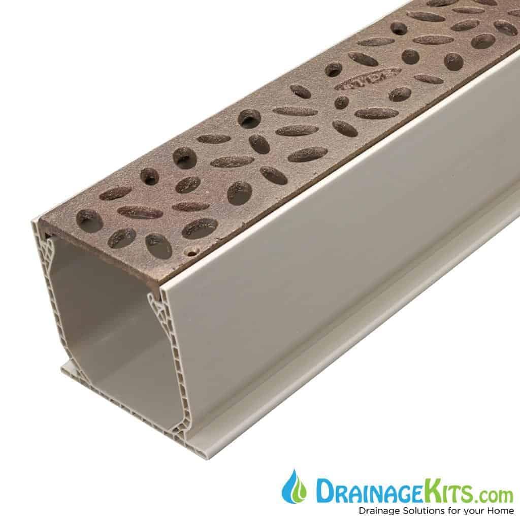 MCKS-TDS565 natural bronze raindrop grate tds sand channel