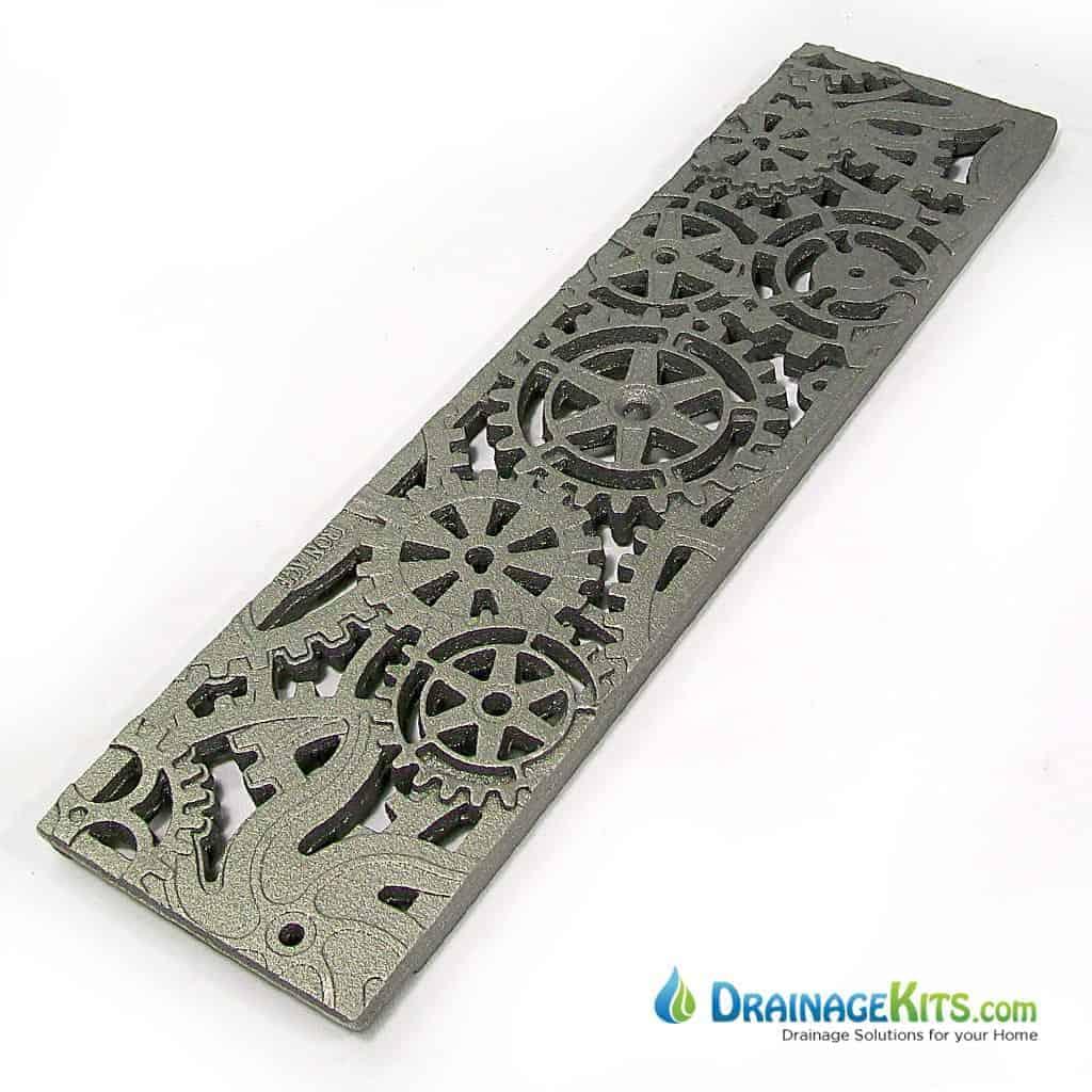 Iron Age 5x20 cast iron grate - Dynamo pattern - raw