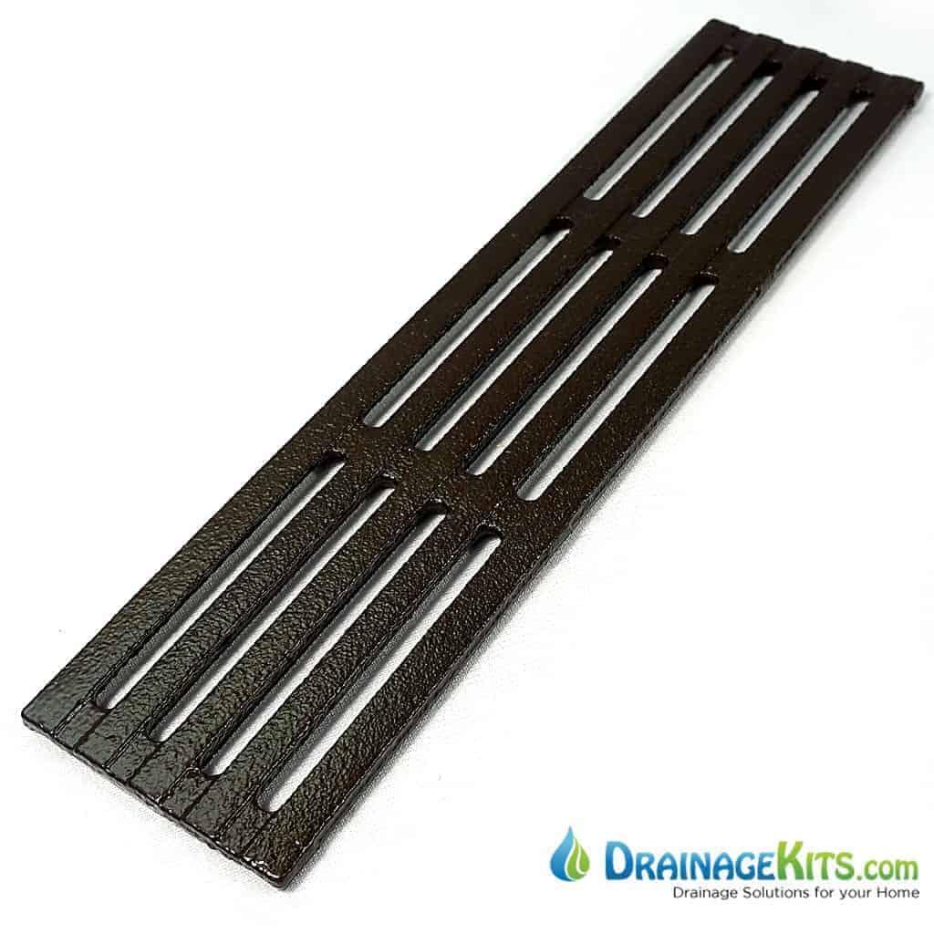 Iron Age Mini Channel Grate - cast iron - Que pattern 3x12 w/BooF