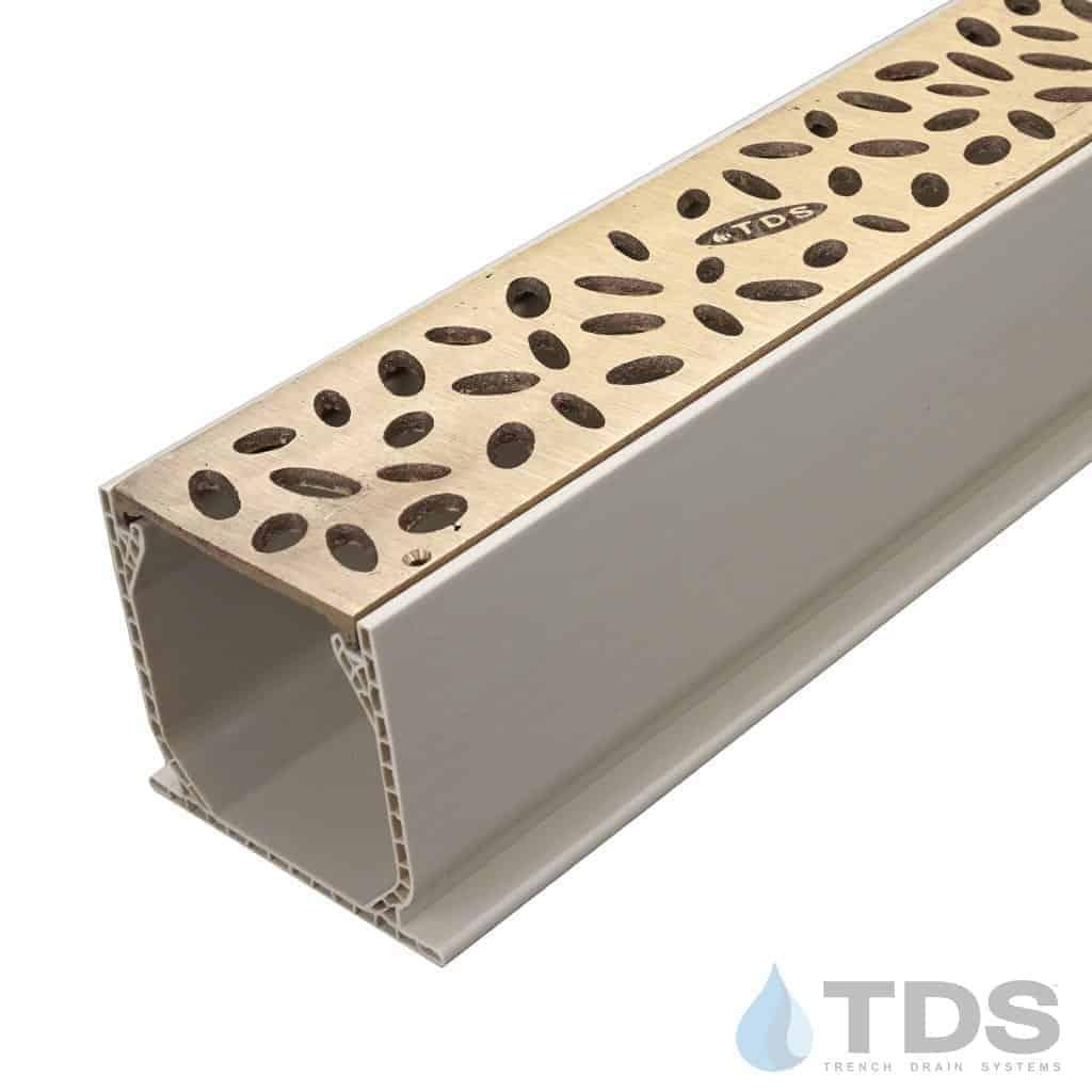 MCKS-TDS565-B-bronze satin rain drop grates in NDS mini channel