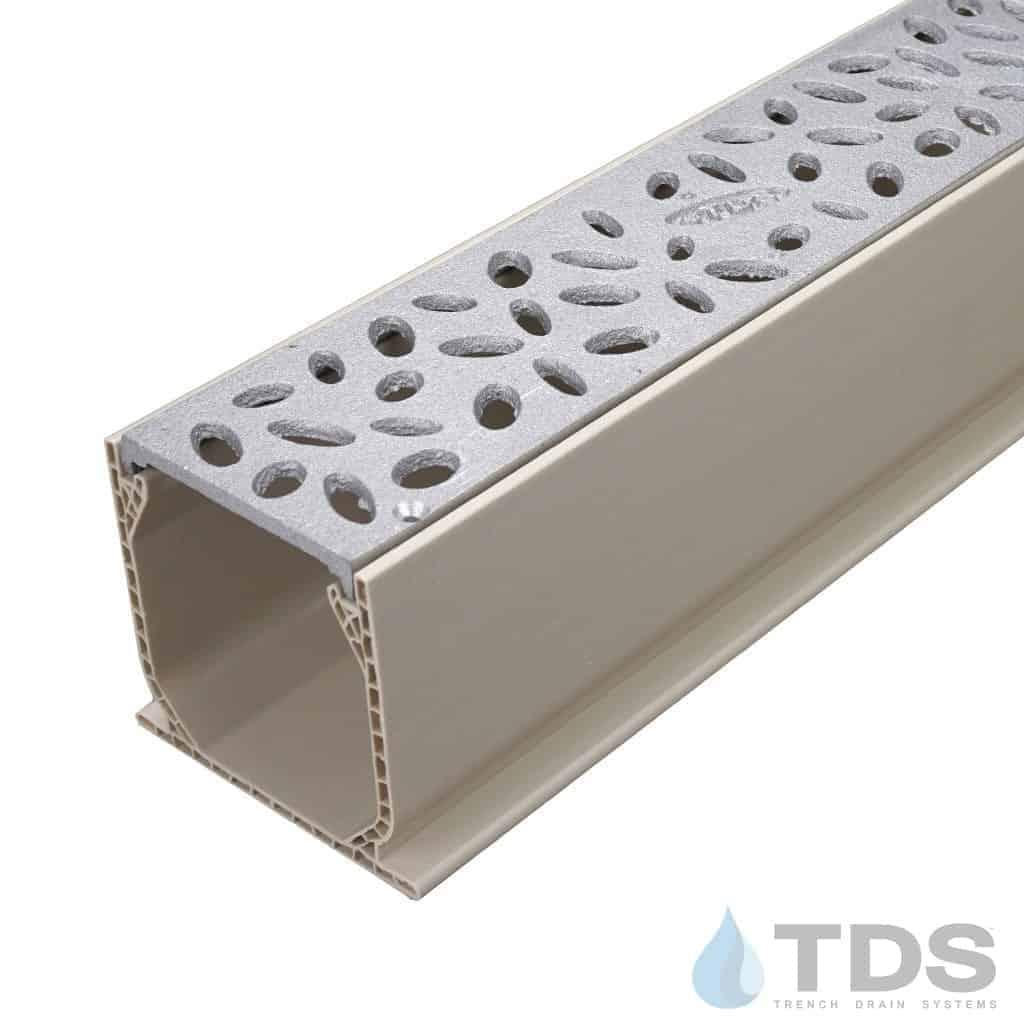 MCKS-TDS566-B-natural aluminum rain drop grates in NDS mini channel