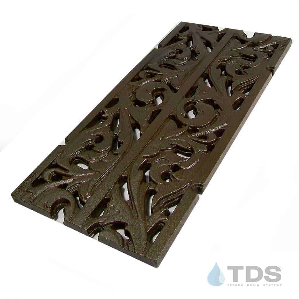 IA-9x20in-CI-Acanthus-Grate-boof-TDSdrains cast iron deco