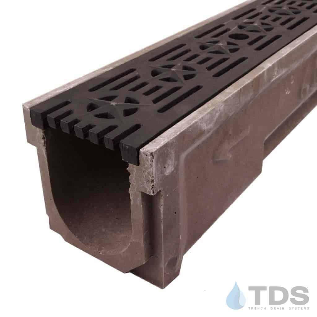 POLY600-XX-692-DK cast iron patriot grate polymer concrete channel Polycast