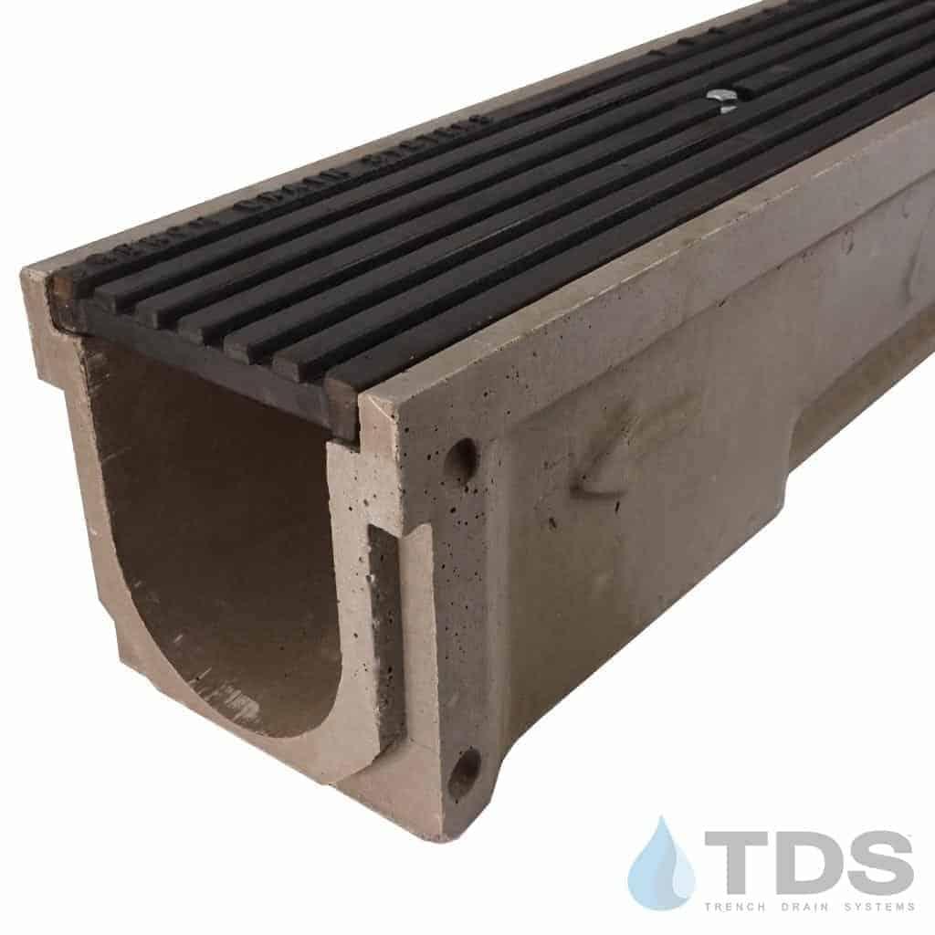 POLY600-xx-675D-TDsdrains cast iron transverse ada grate polymer concrete channel Polycast