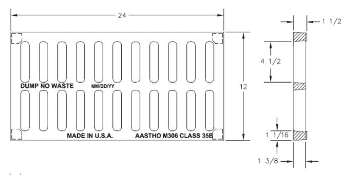 TDS-6118-12x24-Cast-Iron-HD-Grate
