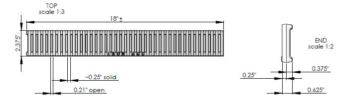 IA-Joe-0218-Cast-iron-regular-joe-deco-grate-Z880-Ironage | Trench Drain Systems Grates
