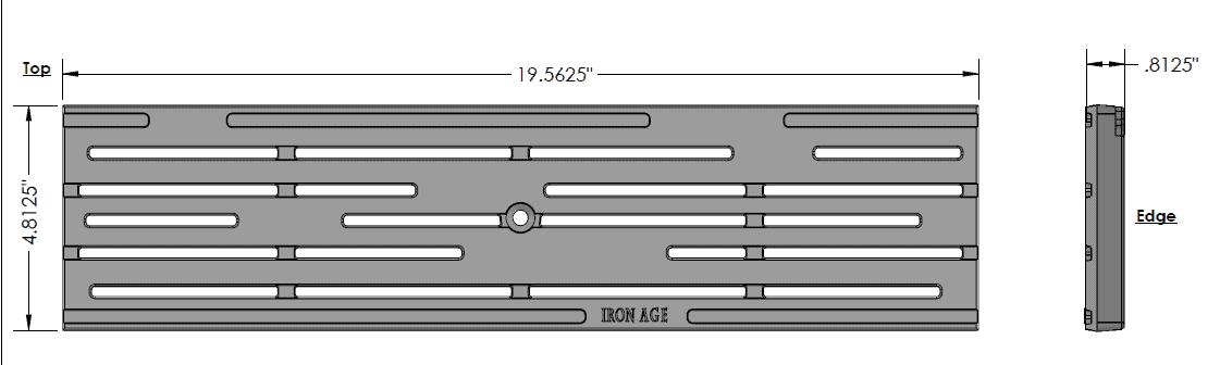 IA-Rain-0520-Cast-Iron-Deco-Ironage-Grate | Trench Drain Systems Grates
