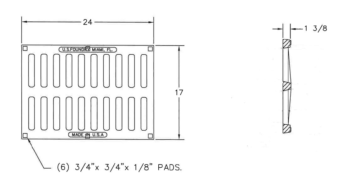 TDS-6455-17″ x 24″- Cast-Iron-HD-Grate