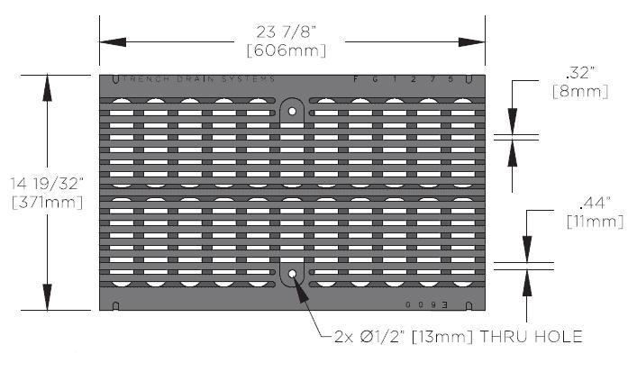 FG1275 Ductile Iron ADA Grate Specs
