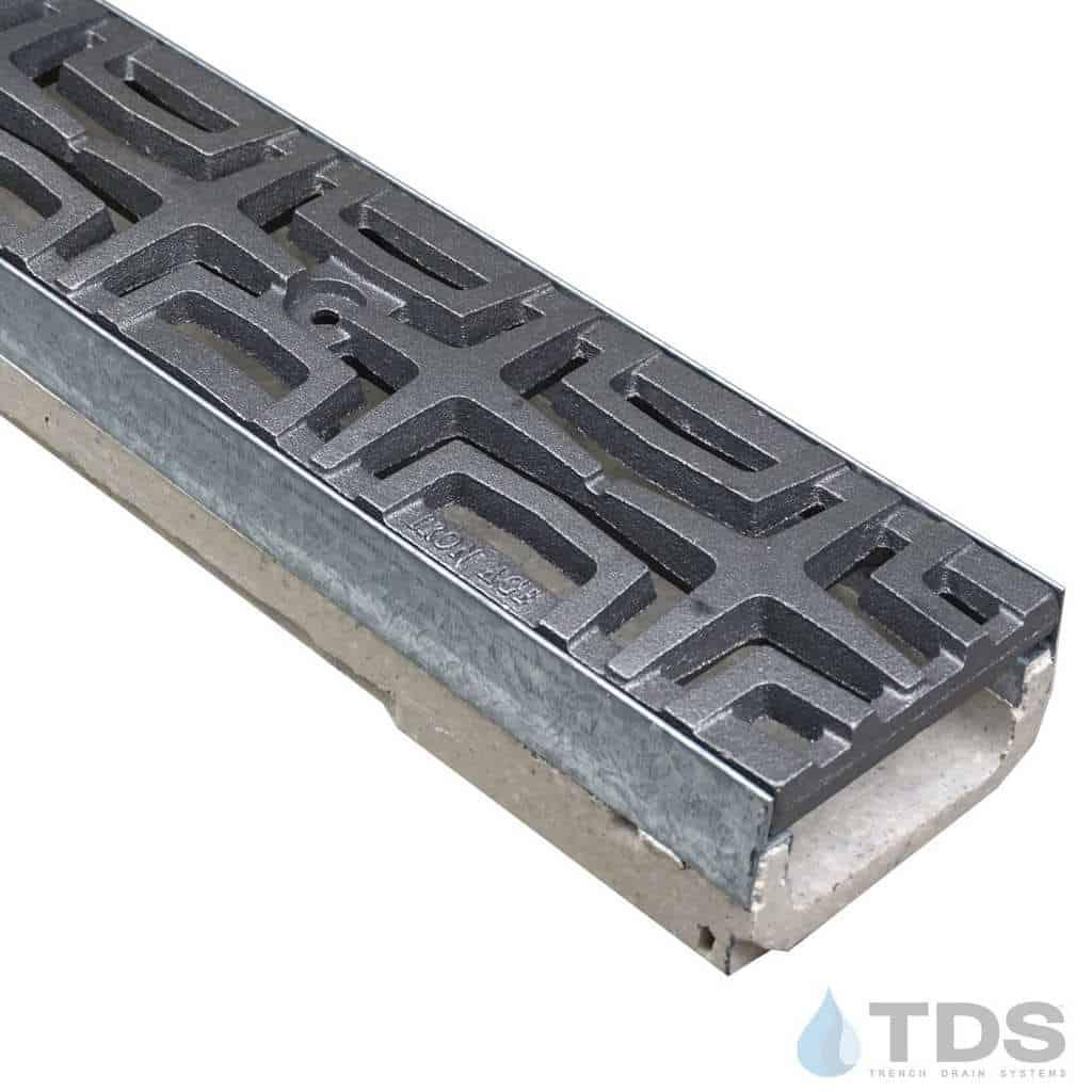 M100K-Carbochon Iron Age raw cast iron deco grate polymer concrete galv edge ULMA channel