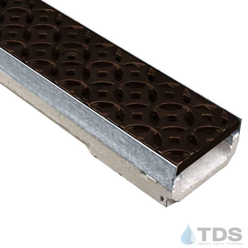 M100K-Interlaken-boof ironage Deco grate Ulma polymer concrete channel galv edge