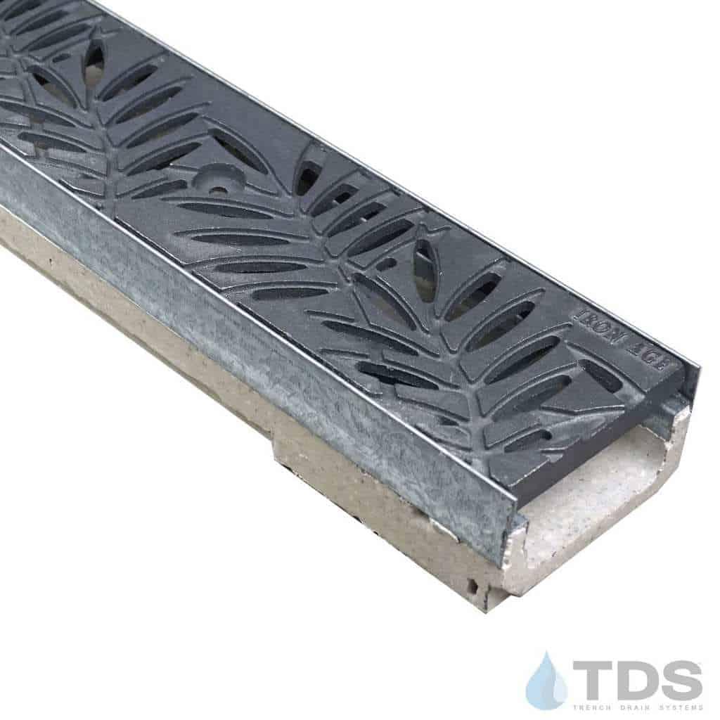 M100K-Locust Raw Cast Iron deco grate polymer concrete galv edge ULMA channel