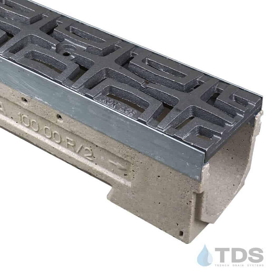 U100K00M-Carbochon Cast Iron Ironage Deco Raw Grate polymer concrete galv edge ULMA channel