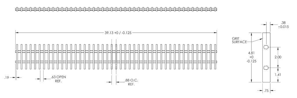 486 fiberglass grate Specifications