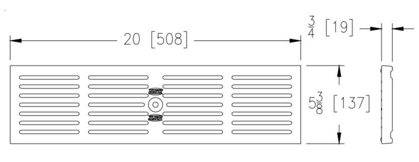 Zurn P6-GHPD Drawing